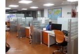 DIVISIONES  DE OFICINA EN VIDRIO  ACERO Y ALUMINIO